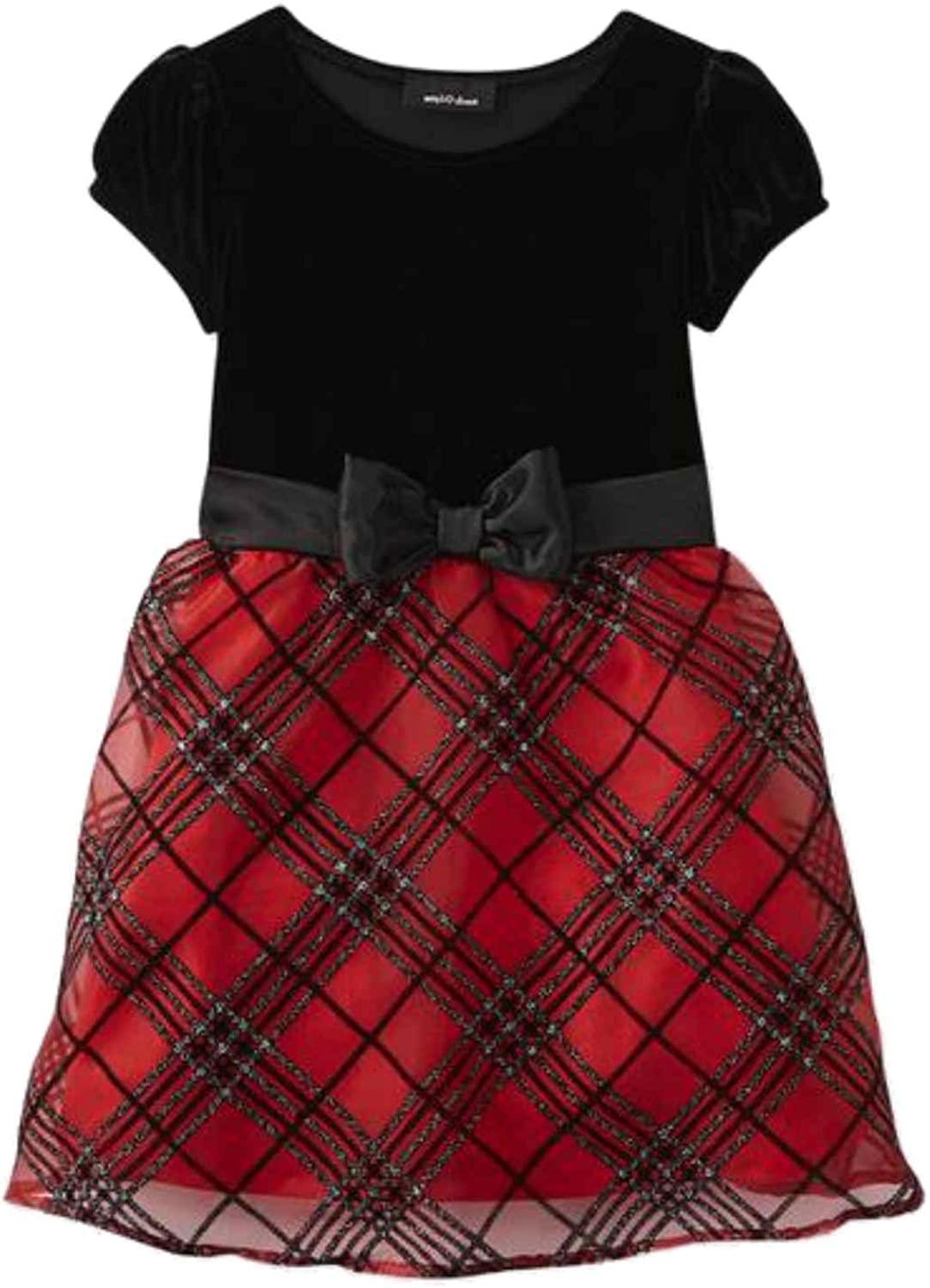 Amys Closet Girls Red Red /& Black Plaid Holiday Party Special Occasion Dress