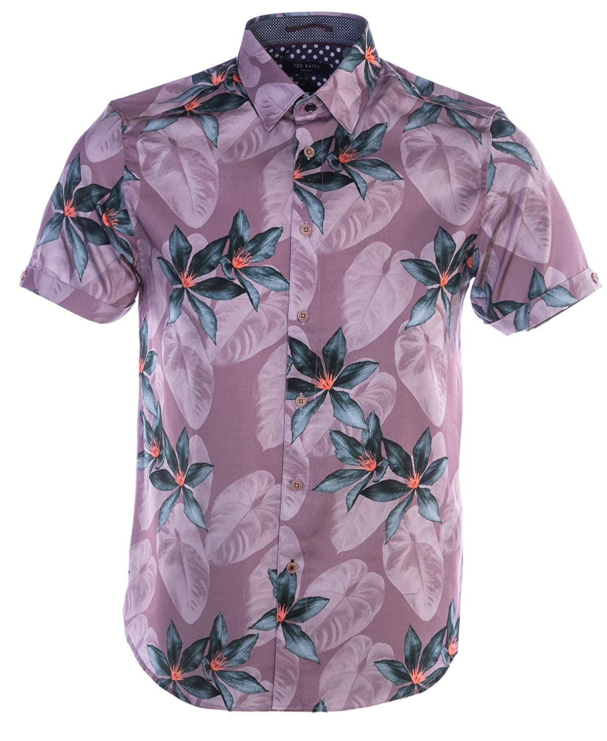 Ted Baker Myles manche courte Shirt in rose Floral