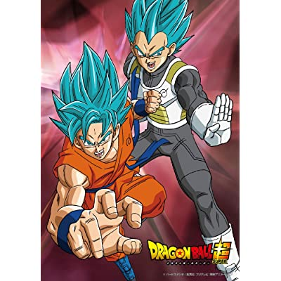 100-piece jigsaw puzzle Dragon Ball super Goku & Vegeta - Super Saiyan God SS] Large piece (18.2x25.7cm): Juguetes y juegos