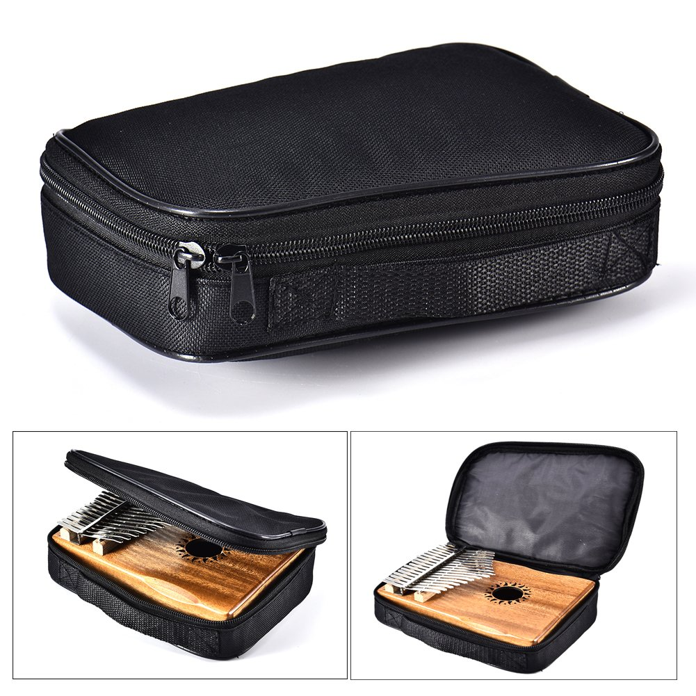 EDTara Kalimba Storage Bag 17/15/10 Keys Thumb Piano Mbira Case Shoulder Bag General