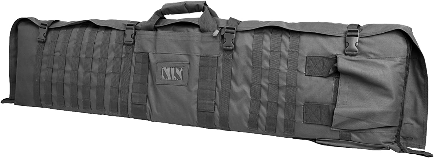 Nc Star Rifle Case with Shooting Mat, Large, Urban Gray