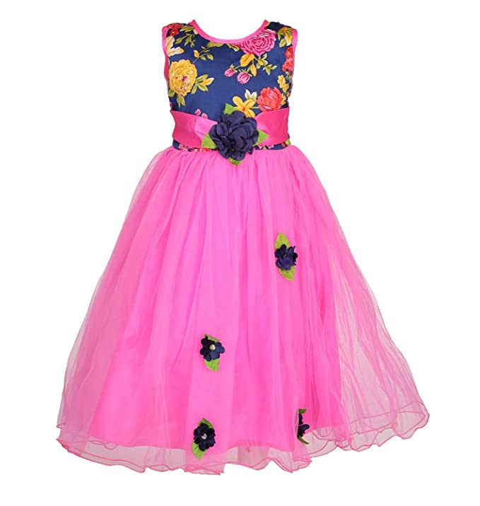 Arshia Fashions Girls Party Wear Frock Girls' Dresses & Jumpsuits at amazon