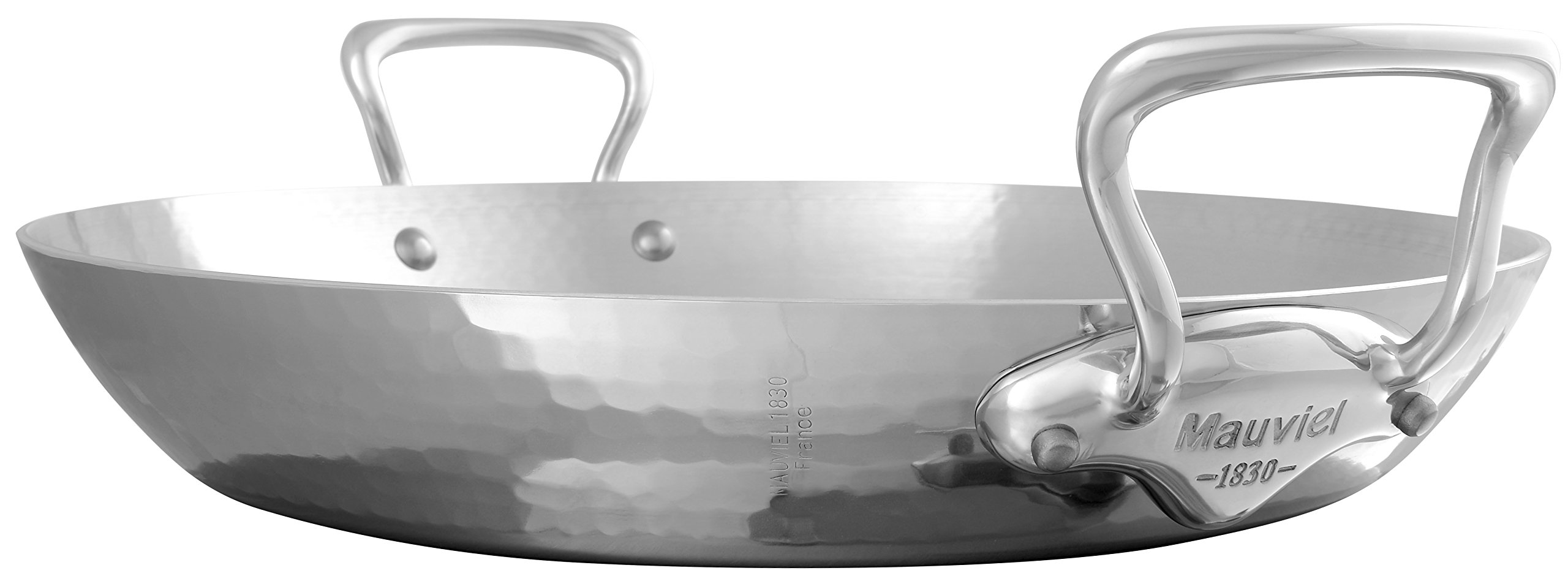 Mauviel 5277.4 M'Elite Paella Pan, 15.7, Stainless