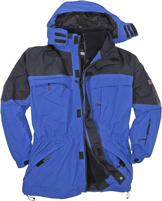 Marc&Mark 3in1 Jacke grau I Winterjacke Herren I Kleidung Herren I Herrenjacke I Übergangsjacke I Outdoorjacke I Regenjacke in Übergröße bis 10 XL