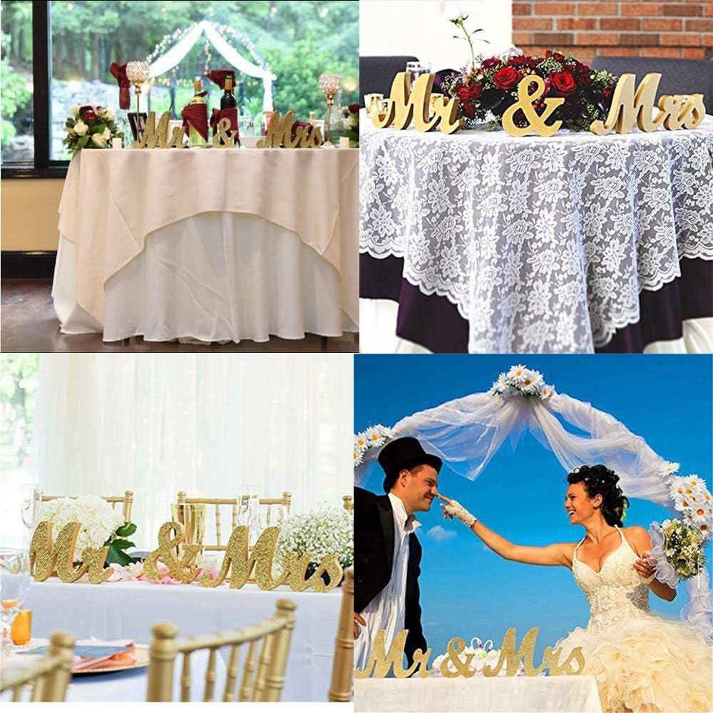 Dekoration Pailletten Anh/änger ohne Ballon Kitchen-dream Hochzeit Mr Mrs Holz Buchstaben Hochzeit Vintage f/ür Tischdeko Brautpaar Hochzeitstag