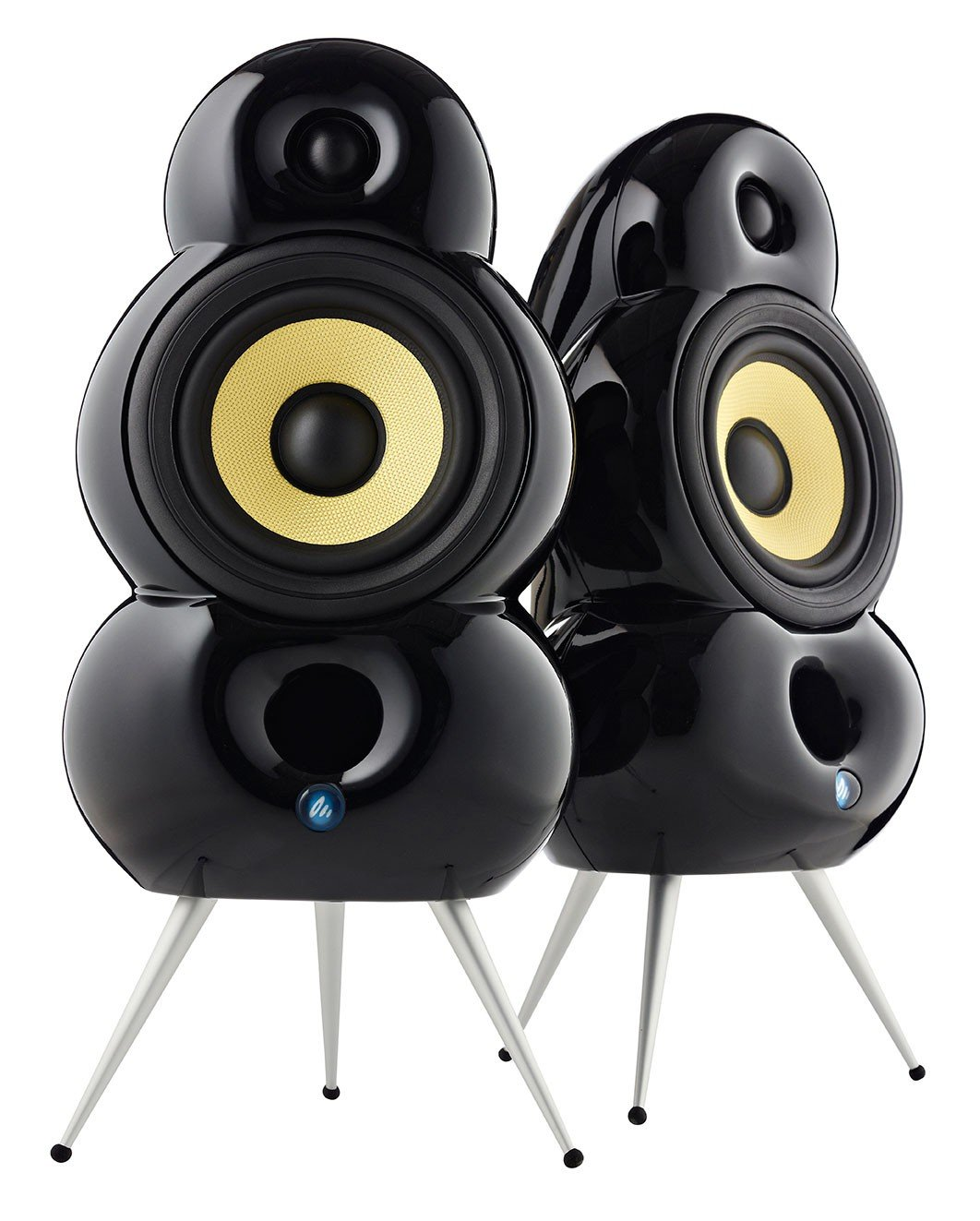 Podspeakers MiniPod Black Speakers for Stereo and Surround (Pair)