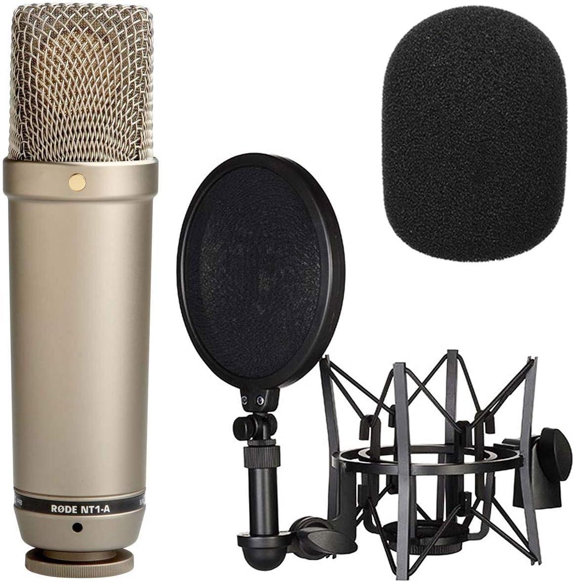 Rode NT1-A - Kit de grabación vocal, incluye protector contra el viento de espuma WS2