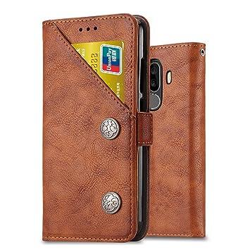 Ferilinso Funda para Xiaomi Pocophone F1,Cuero Retro con credencial de identificación multifunción Titular de la Ranura para Tarjeta de crédito Flip ...