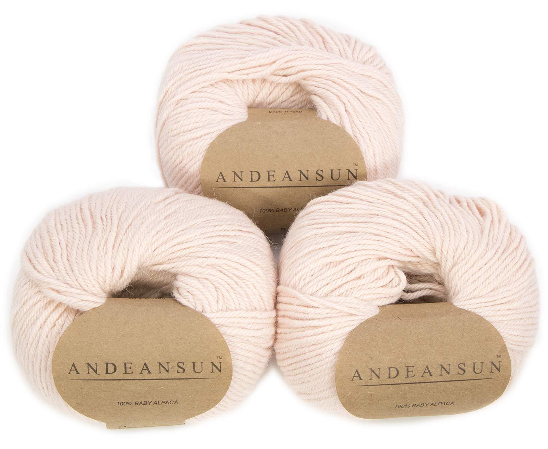 handdyed Double knit yarn 100/% Alpaca Peach Tea