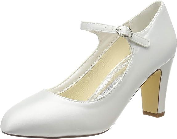 Mrs White 98977 16 Chaussures de Mariage pour Femmes 7,5 cm