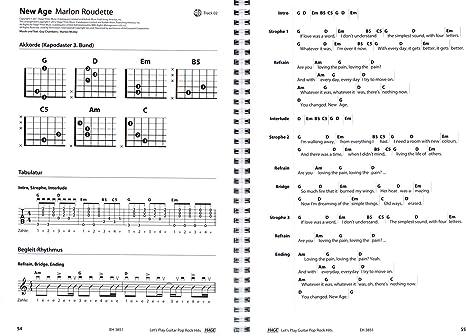 Let s Play Guitar Pop Rock Hits – 40 guitarra de clásico sin ordenador conocimientos Jugar de Alexander Espinosa – Songbook a la escuela para guitarra con 2 CDs y Música de
