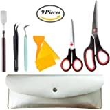 9 Pieces Craft Weeding Tools Set - Craft Weeding Tools With Leather Storgae Bag For Vinyl By SWISSELITE