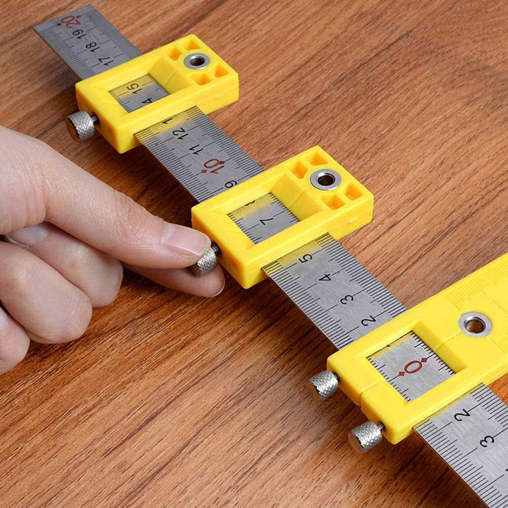rui tai Drill Guide Sleeve Cabinet Hardware Jig Drawer Pull Wood Drilling Dowelling Hole Jig Furniture Punching Tools