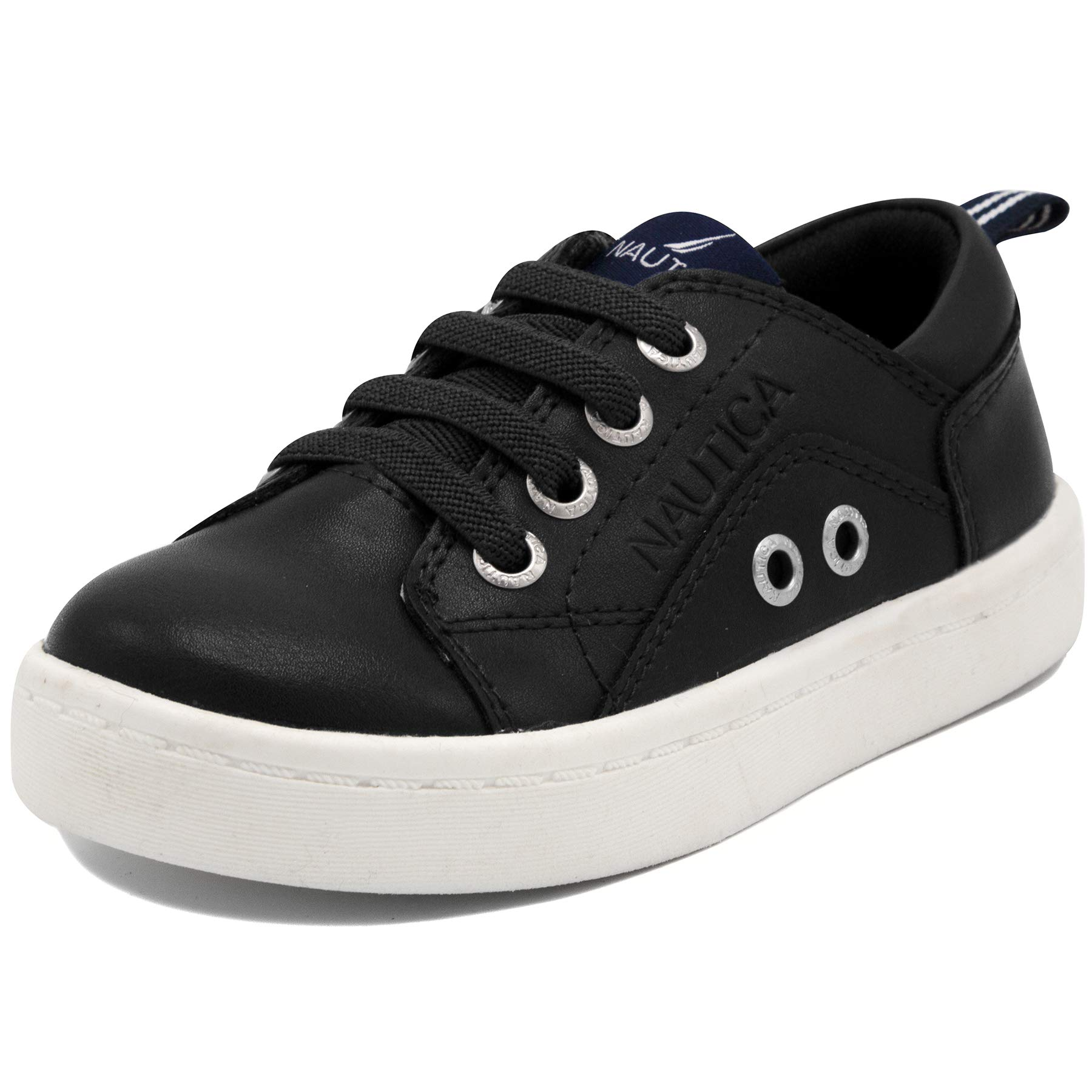 Nautica Kids Wakeby Toddler Shoe Lace Up Fashion Sneaker-Wakeby-Black-10