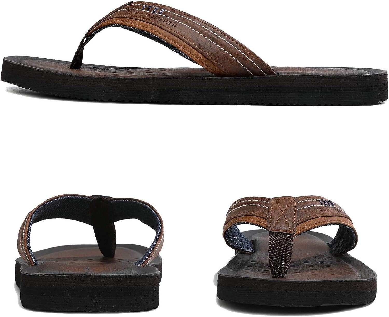 ARRIGO BELLO Infradito Uomo Ciabatte Pelle Avanzata Sandali Estive Morbido Pantofole Spiaggia Piscina Allaperto Taglia 40-46