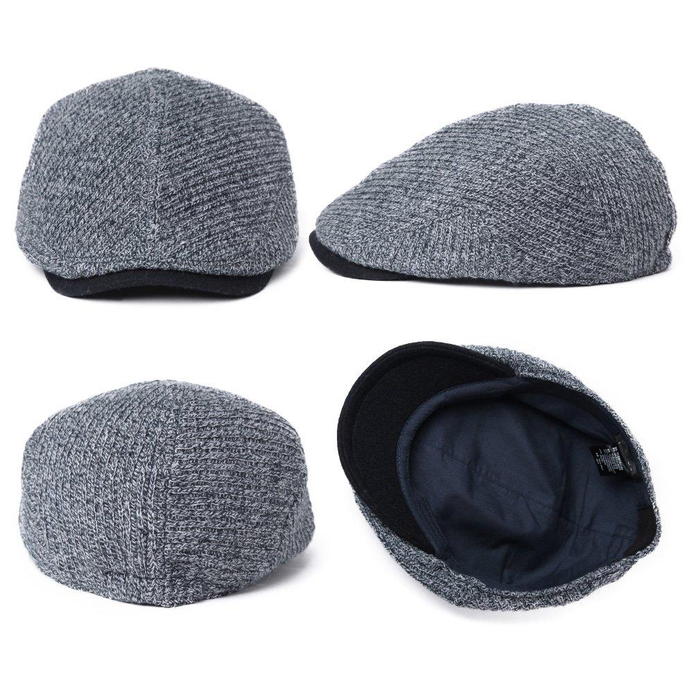 6725509f42cef Siggi Mens Irish Wool Duckbill Ivy Flat Cap Newsboy Gatsby Driver Winter Hat  CM16084-1 larger image