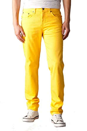 Neo Blue Mens Skinny Jeans (38W x 32L, Yellow) at Amazon Men's ...