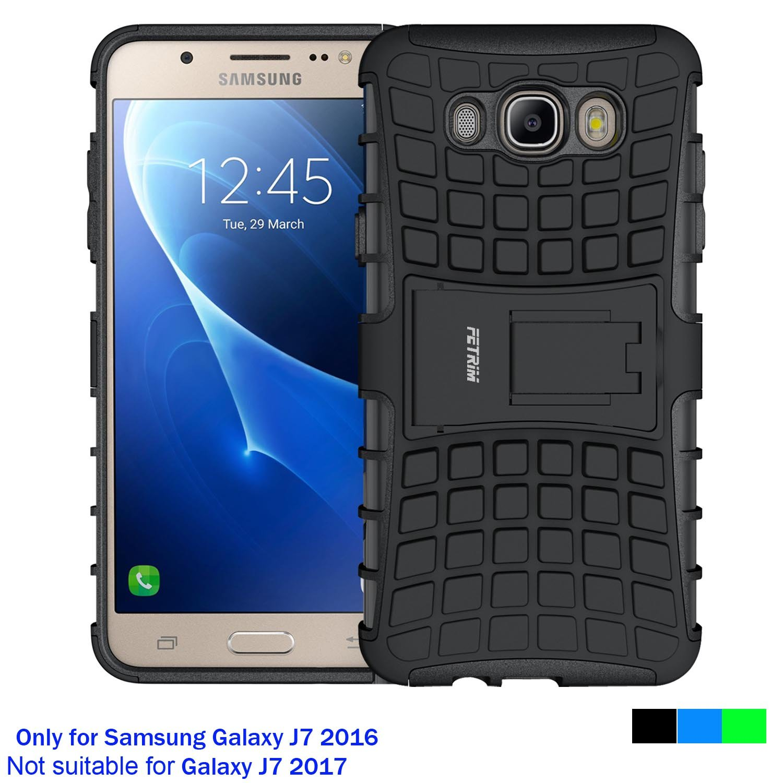 Funda Samsung Galaxy J7 2016, Cáscara Galaxy J7 2016 , Fetrim soporte Proteccion Cáscara Cases delgada de golpes Doble Capa de Tough silicona TPU + plastico Anti Arañazos de Protectora para Samsung Galaxy J7 2016 - Verde M-Fetrim-HWJ716