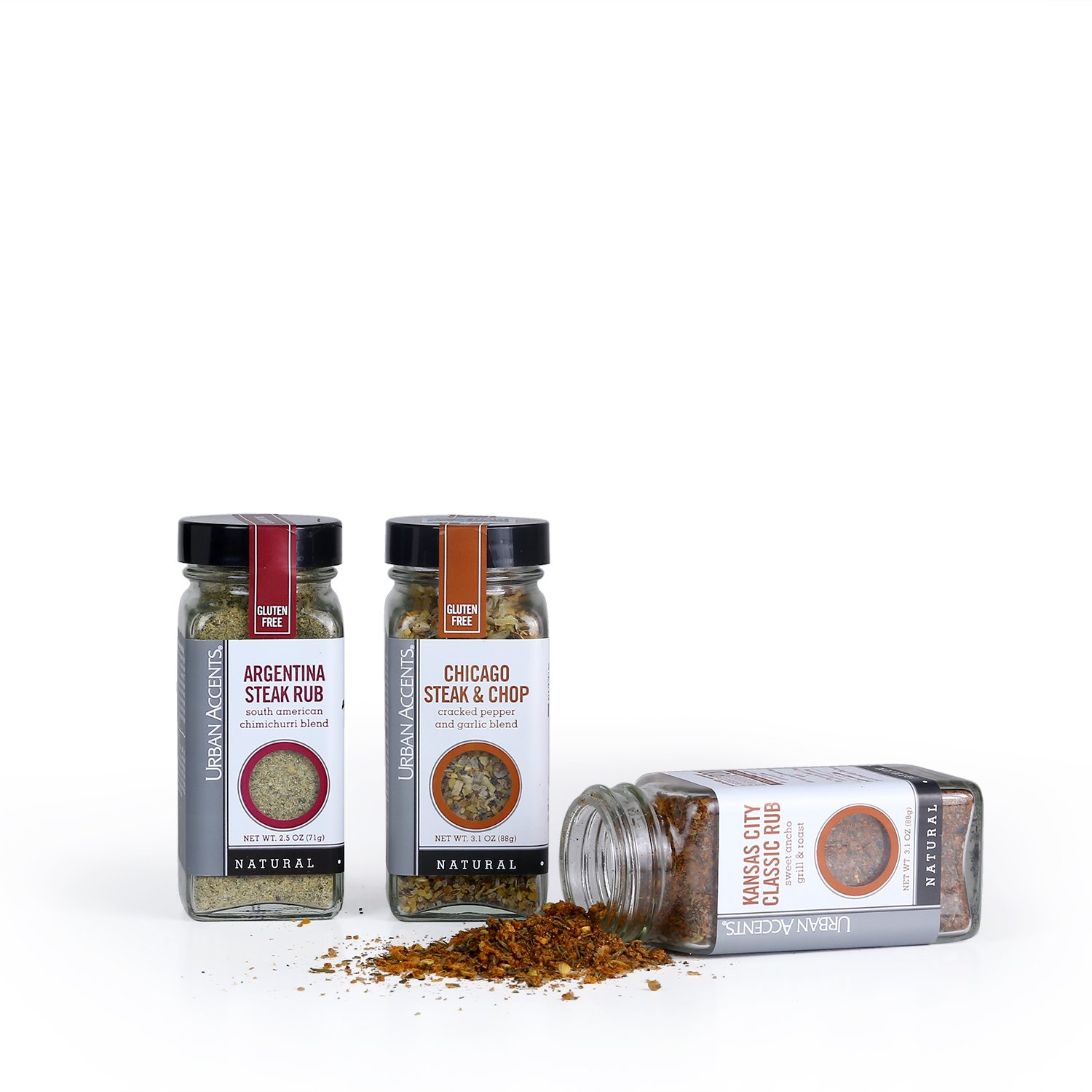 BUTCHER SHOP, A Gourmet Grilling Rub Trio of Spices Gift Set, Perfect for Weddings, Housewarmings or Any Occasion - Urban Accents by Urban Accents (Image #2)