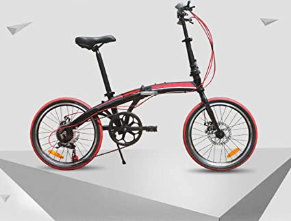 Bicicleta De Aluminio De 20 Pulgadas Bicicleta Plegable De 7 Velocidades Bicicleta Super Ligera Ciclismo Bicicleta