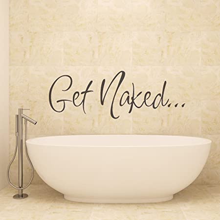 Ordinaire Vu0026C Designs Ltd (TM) Get Naked Bathroom Shower Room Wall Sticker Wall Art  Vinyl