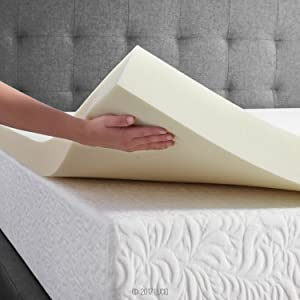 LUCID Ventilated Memory Foam Mattress Topper