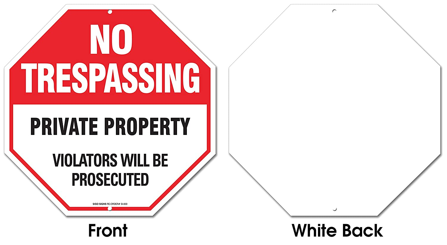 Amazon no trespassing sign private property sign violators amazon no trespassing sign private property sign violators will be prosecuted legend large 12 x 12 octagon rust free 040 aluminum sign expocarfo