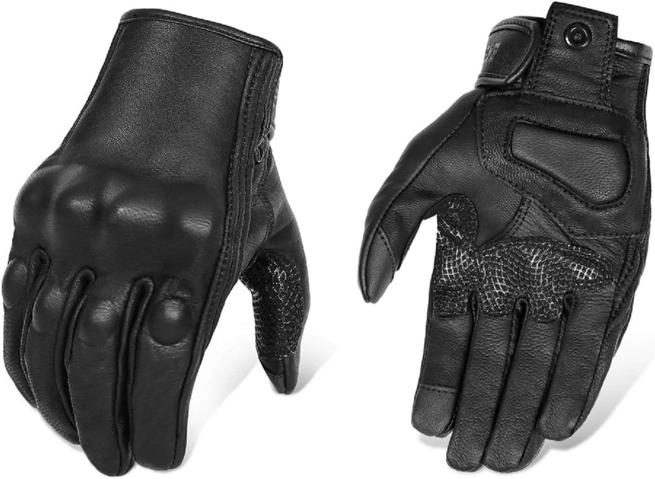 Superbike Men's Goat Skin Leather Motorcycle Gloves