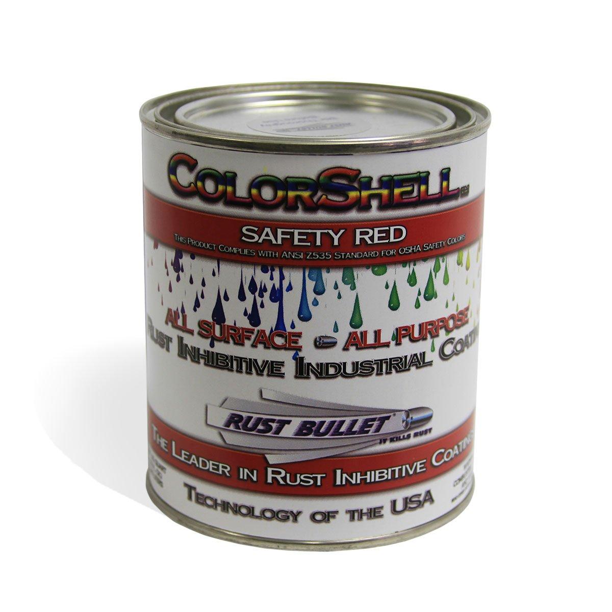 Rust Bullet CSRDQ ColorShell Rust Preventative and Protective Coating,1-Quart, Red