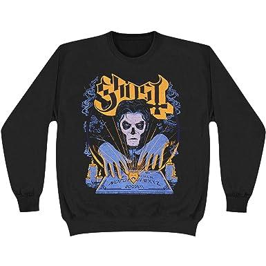 Amazon.com  Ghost B.C. Men s Witchboard Crewneck Sweatshirt Black ... 94300af718