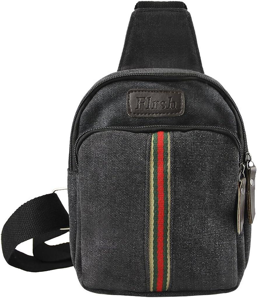 Mens Vintage Crossbody Sling Backpack Chest Pack Shoulder Bag Rucksack Satchel