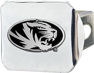 FANMATS - 15097 NCAA University of Missouri Tigers Chrome Hitch Cover 3.4