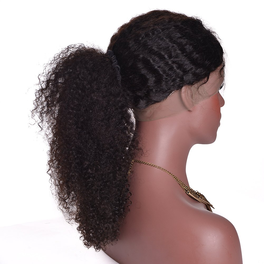Ruiyu Glueless Lace Front Human Hair Wigs for Black Women Kinky Curly Wig with Baby Hair Brazilian Wigs Pre Plucked