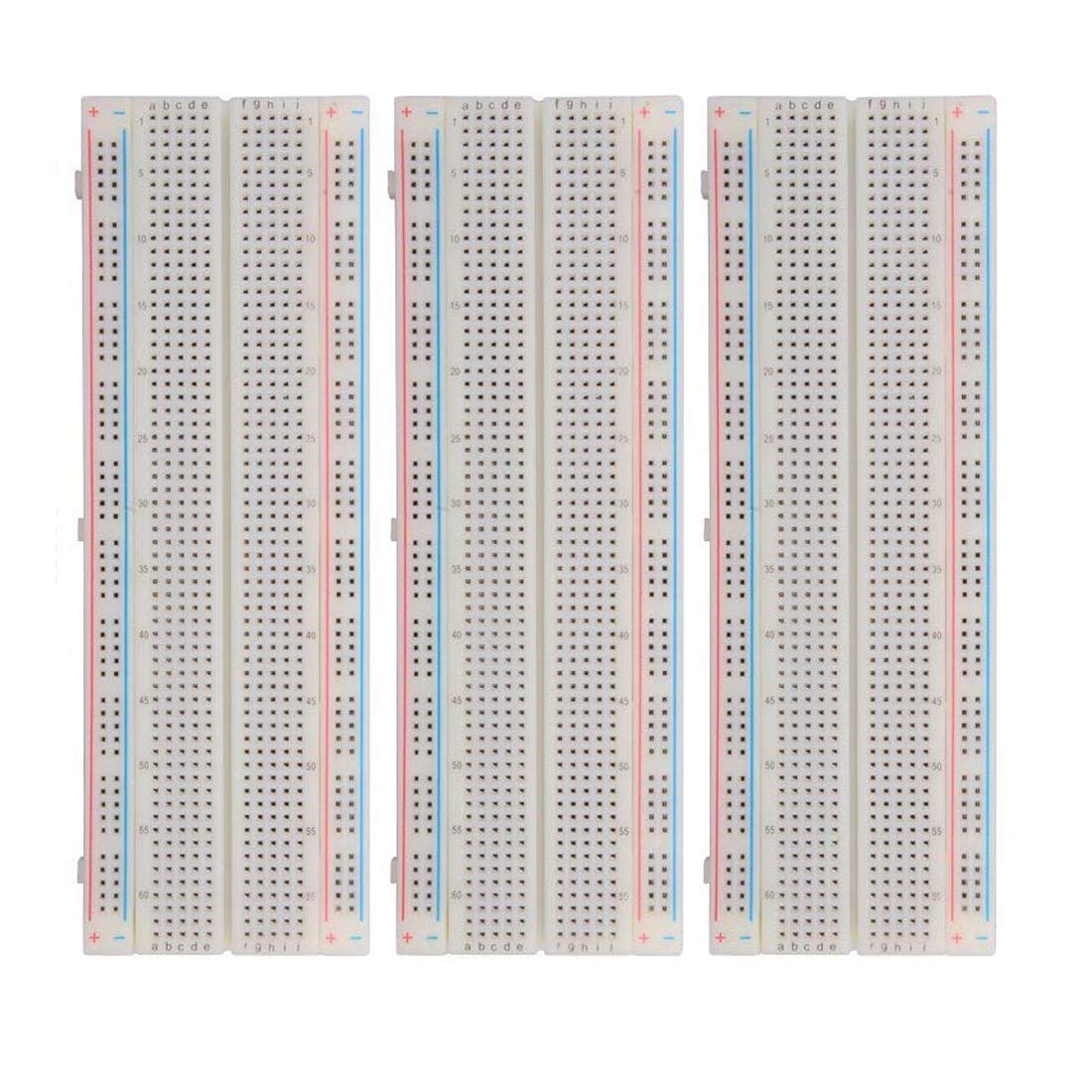HiLetgo MB-102 MB102 830 Ties Solderless Protype Breadboard Solderless BreadBoard 165 /× 55 /× 10 mm pour Circuit Connects Electronic Experiment