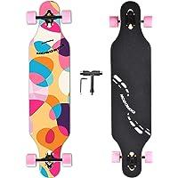 NOBONDO 41 Inch Longboard Skateboard - Canadian Maple Complete Long Board Skateboard Cruiser for Cruising, Carving, Free…