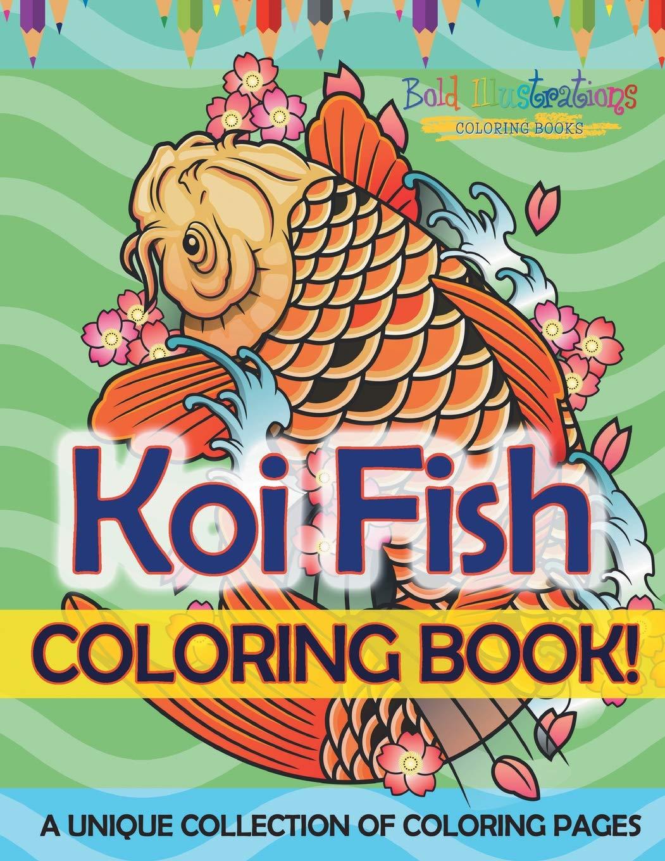 Koi Fish Coloring Pages | Bunte zeichnungen, Malvorlagen tiere ... | 1360x1051