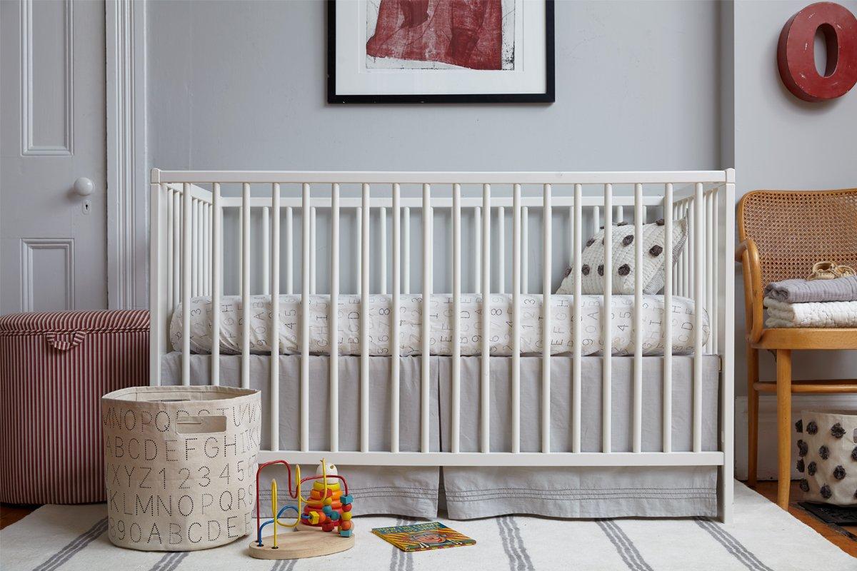 Baby CRSK02 Pehr Grey Crib Skirt Pehr Designs