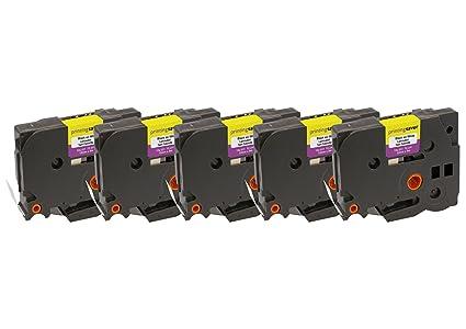 5 Compatibles TZe-231 TZ-231 12 mm x 8 m Negro sobre Blanco Cintas ...