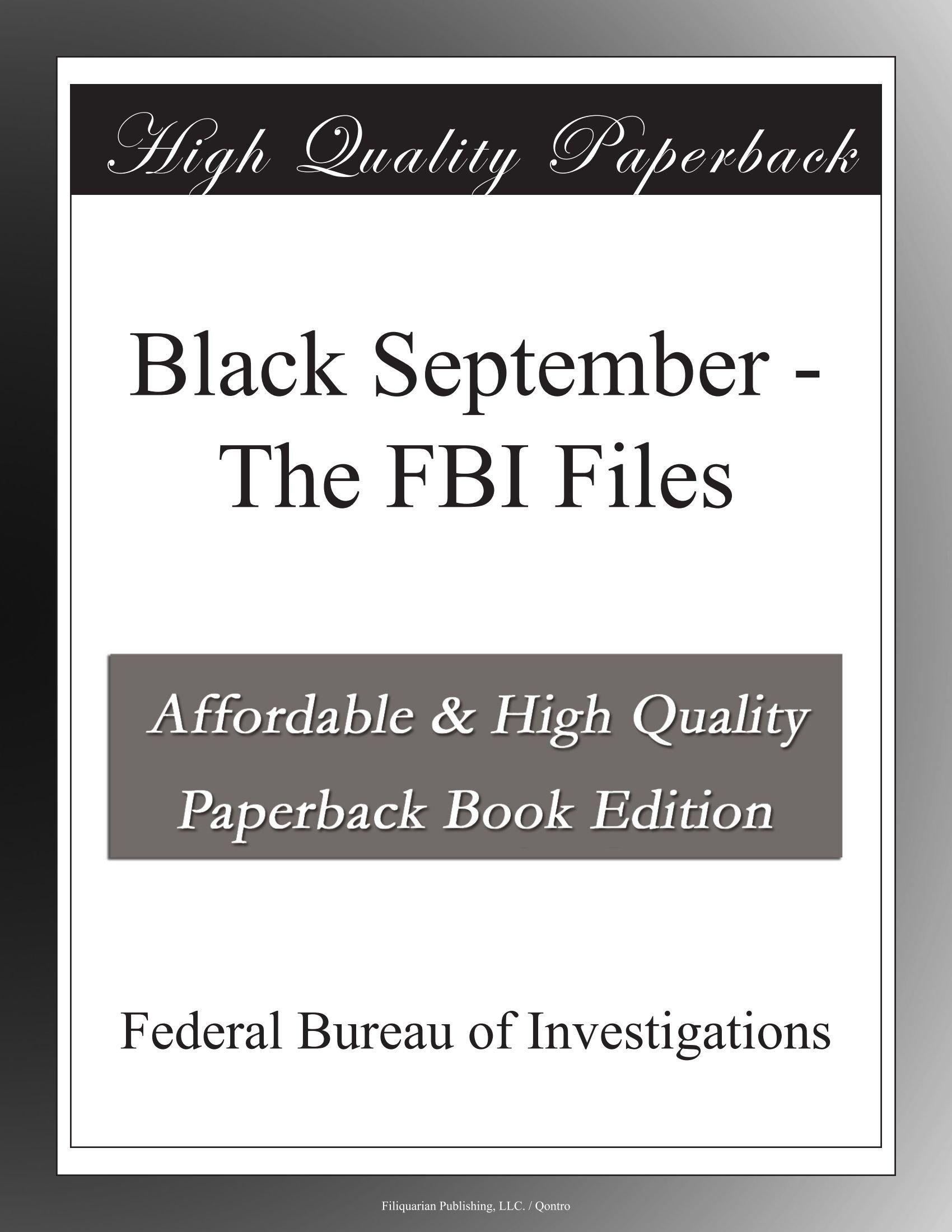 Download Black September - The FBI Files PDF