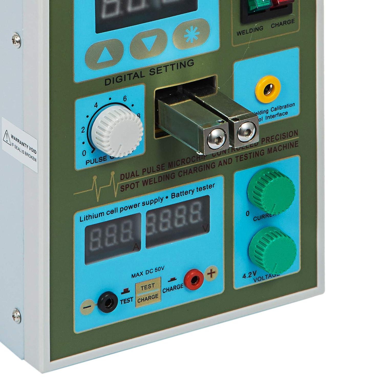 Mophorn 788H Schwei/ßger/ät-Schwei/ßger/ät-Maschine 2 in 1 LED-Akku-Ladeger/ät-Schwei/ßger/ät 788H
