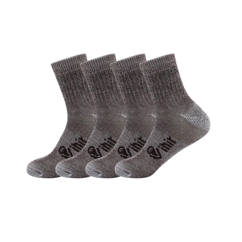 Vihir Merino Socken Herren - Sportsocken mit 80% Merino Wolle Antimikrobielle für Sport, Freizeit und Business 4Paar Braun