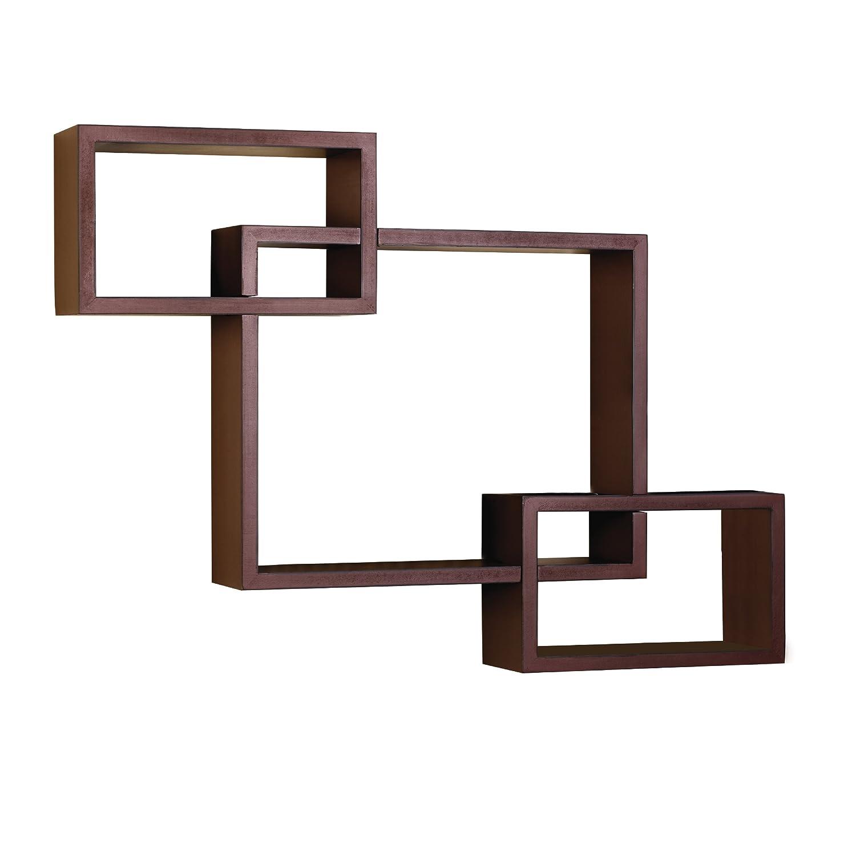 Amazon.com: Melannco Interlocking Shelves Set, Red, Set of 3: Home ...