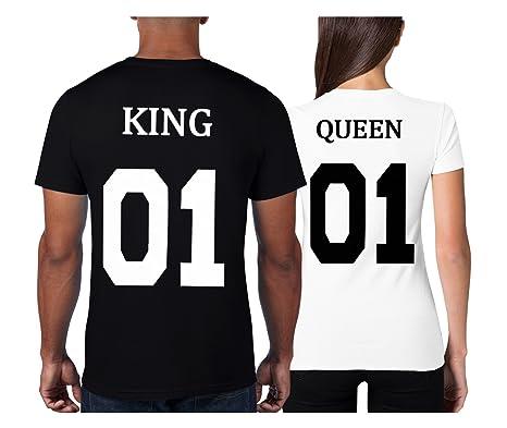 Cold & Heartless Partner Look Pärchen T-Shirt Set King Queen T-Shirts  Hochzeitstagsgeschenk