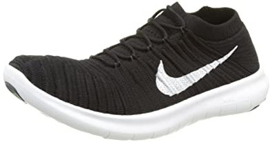 mens nike free run flyknit black