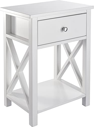 MAGIC UNION X-Design Side End Table Night Stand Storage Shelf