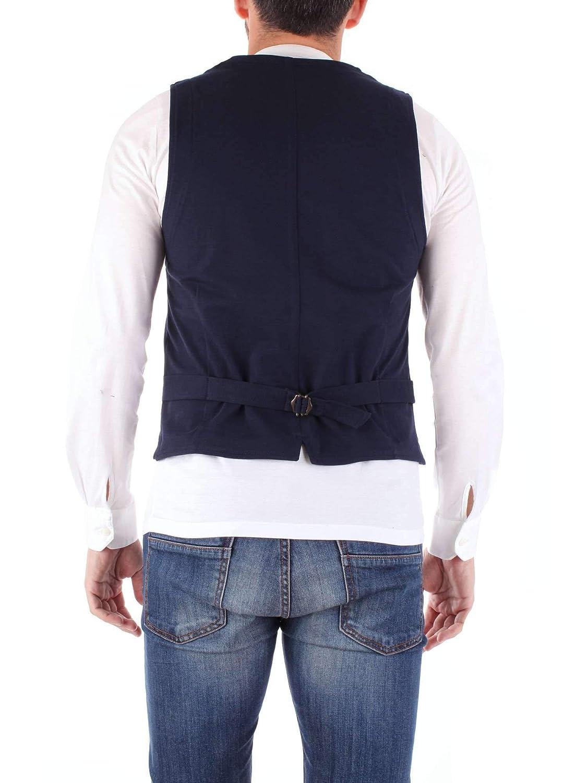 FRADI Mens 181FLY181CN6552BLUENAVY Blue Wool Vest