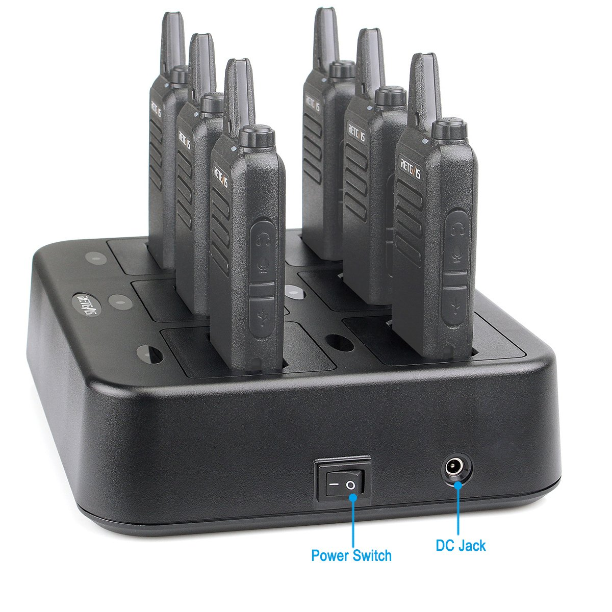 Retevis RT22 Six-Way Charger Multi Unit Charger for Retevis RT22 Walkie Talkie and Battery (1 Pack) by Retevis (Image #3)