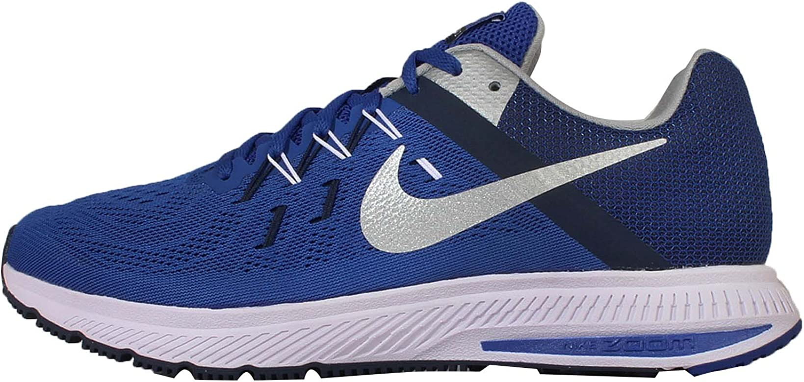 Nike Zoom Winflo 2, Zapatillas de Running para Hombre, Azul/Plata/Azul Marino/Blanco (Rcr Bl/Mtllc Slvr-Mid Nvy-Whit), 40 EU: Amazon.es: Zapatos y complementos