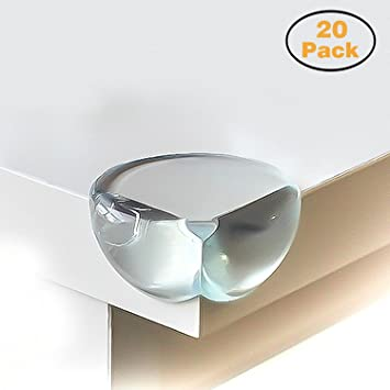 Superb CALISH Safety Corner Protectors Guards (20pcs   Large   Clear) Table Corner  Guards For