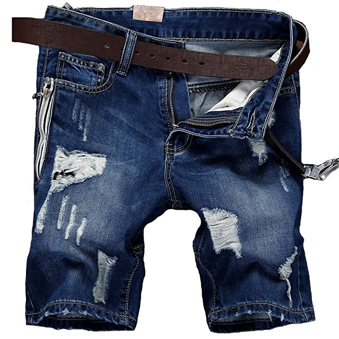 2018 Hombre Fashion Distressed pantalones vaqueros, Vintage ...